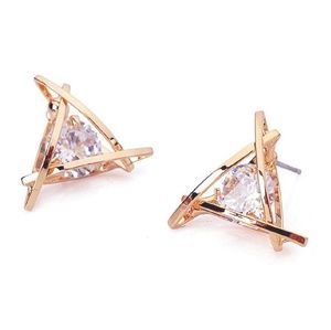 Jewelry - 🏷New Listing Triangle cz gold earrings
